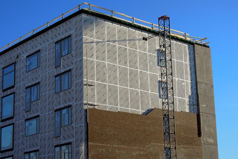 Wärmedämmung nach Fassadendemontage